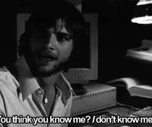 ashton kutcher, quote, and black and white image