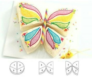butterfly, cake, and diy image