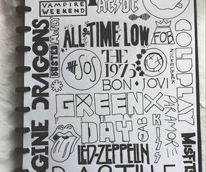 ac dc, cool, and fall out boy image
