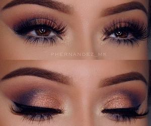 beautiful, eyeshadow, and lashes image