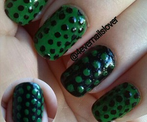 black, nails, and green image