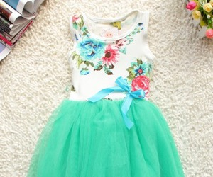 clothing, floral, and dress image
