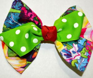 bow, colorful, and fashion image