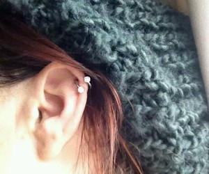 fashion, helix, and piercing image