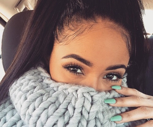 girl, nails, and eyes image