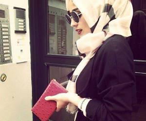 hijab, style, and sunglasses image