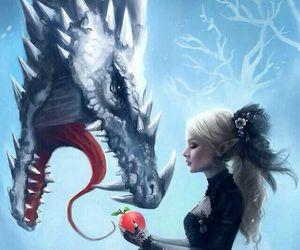 dragon and girl image