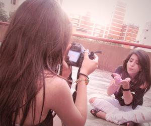 girl, bff, and camera image