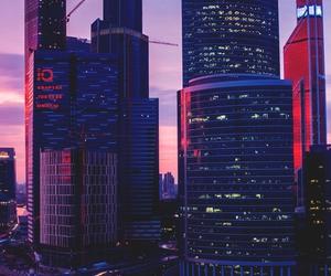 buildings, landscape, and purple image