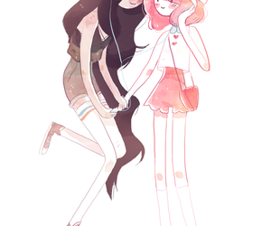 adventure time, bubbline, and marceline image