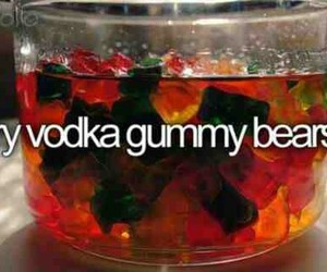vodka, gummy bears, and bear image