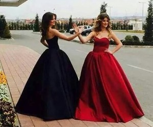 black, dresses, and red image