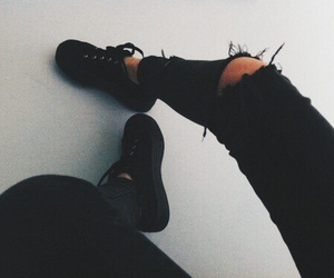 black, black and white, and jean image
