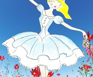 alice in wonderland, ballerina, and sketch image