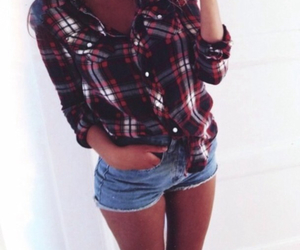 fall, flannel, and shorts image