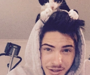 cody christian, teen wolf, and cat image