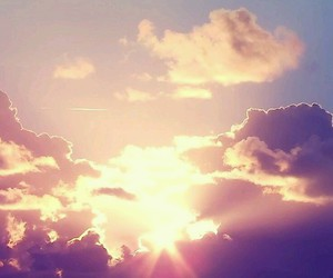 sun, sky, and clouds image