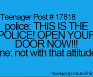 funny, police, and teenager post image