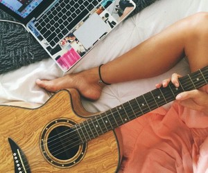 guitar, legs, and summer image