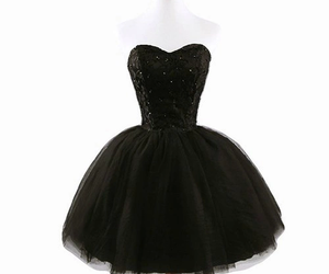 beautiful, black dress, and cool image