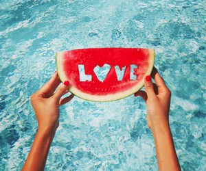 summer, love, and watermelon image