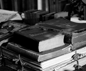 book, black and white, and old image