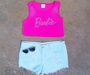 barbie, outfits, and pink image