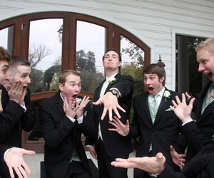 celebration, groom, and groomsmen image
