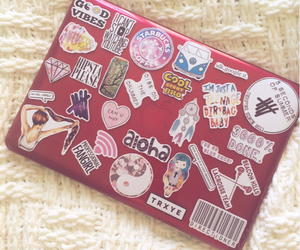 diy, girly, and laptop image