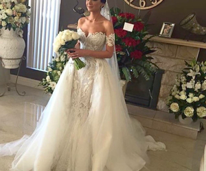 bride, Dream, and flowers image