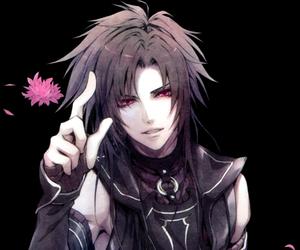 flower, long hair, and anime boy image