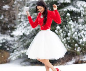 fashion, snow, and winter image