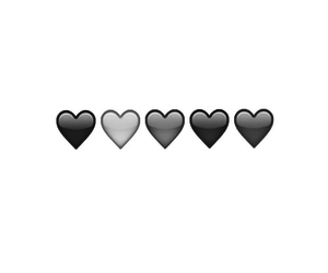 black heart, diferent, and love image