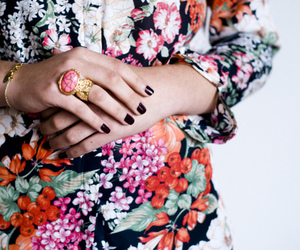 fashion, ring, and floral image