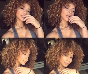 beauty, curly, and curly hair image