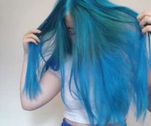 blue, bluehair, and hair image