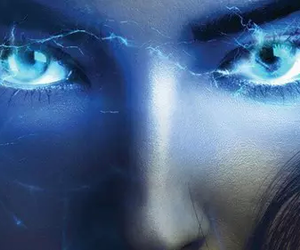 electric, eyes, and girl image