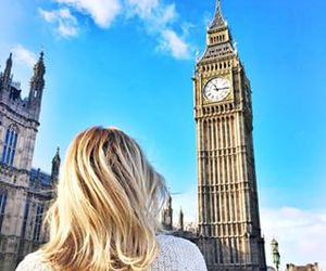 london, girl, and blonde image