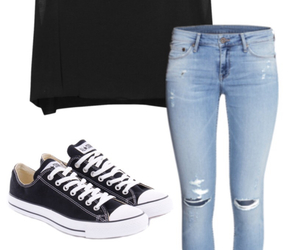 black, converse, and fashion image