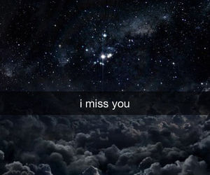 sky, i miss you, and stars image