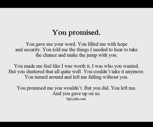cry, promise, and quotes image