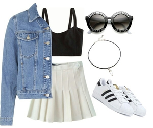 adidas, denim, and outfits image