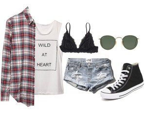 casual, outfits, and plaid image