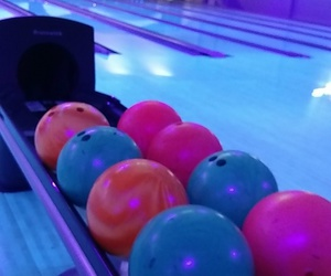 blue, bowling, and fun image