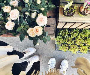 flowers, fashion, and girls image