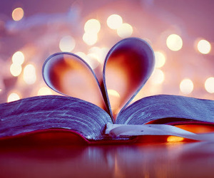 love, book, and heart image
