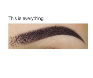 eyebrows, makeup, and goals image