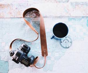 map, vintage, and camera image