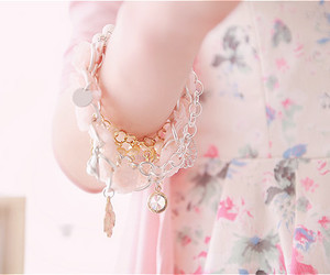 beautiful, bracelet, and pink image