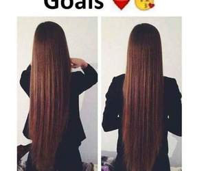 hair, goals, and long image